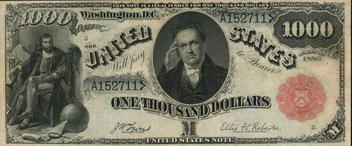 1880 $1000 Legal Tender Note face