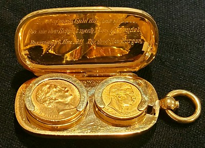 Gold coin carrying case
