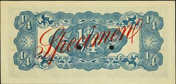 Japanese Invasion Money Burma Quarter Rupee back