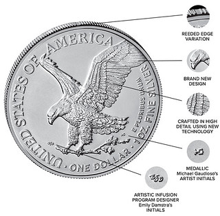 American Eagle Silver reverse features