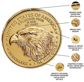 American Eagle Gold reverse features