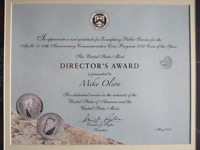 Mike Olson Mint Director's Award