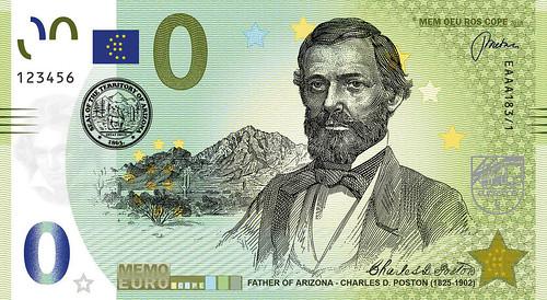 Arizona Rotary Commemorative Banknote Charles Poston