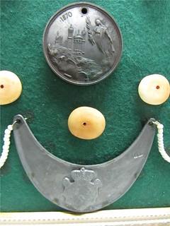 Framed 1870 medal and gorget2