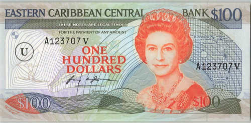 1988 East Caribbean States 100 Dollars