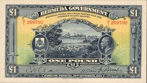 1927 Bermuda 1 Pound