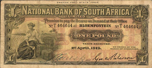 National Bank of South Africa Limited. 1 Pound