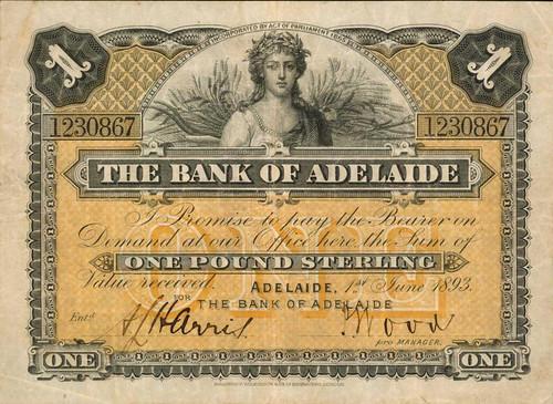 Australia Bank of Adelaide 1 Pound