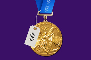 Olympic medal pricetag