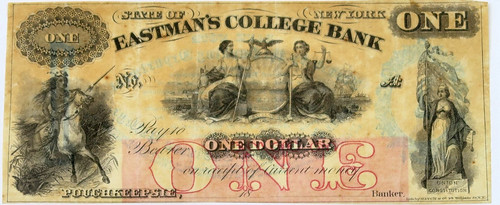Eastman's College Bank One dollar