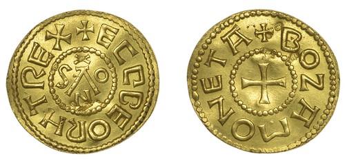 gold Penny of Ecgberht