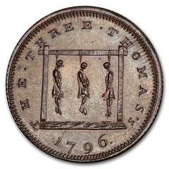 1796 Middlesex Farthing Conder Token obverse