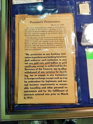 ANA 2021-08-11 1933 President's Gold Proclamation at Fred Weinberg's table