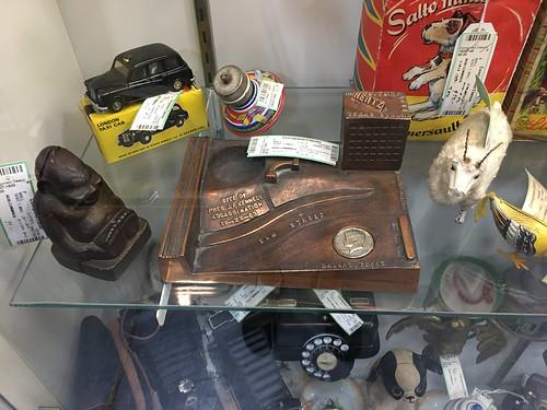 Kennedy Assassination memorial item with Kennedy Half Dollar