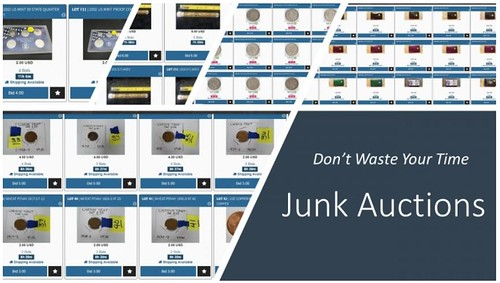 Junk Coins in Online Auctions