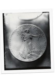 Plaster cast for Saint-Gaudens double eagle