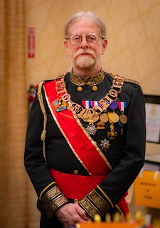 MicroSummit2021 King Alanus of Bermania in formal uniform, including ANA convention medals