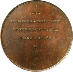 Bache Coast Survey Life Saving Medal reverse