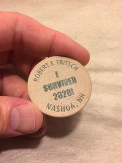 Bob Fritsch COVID survival token obverse