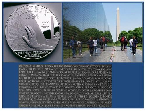 vietnam memorial dollar presentation