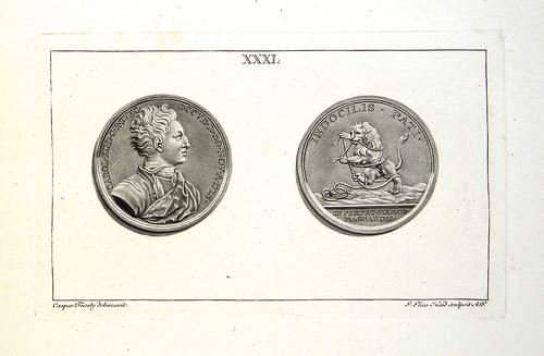 KF 2021-08 sale lot 241 medallic work of Johann Carl Hedlinger