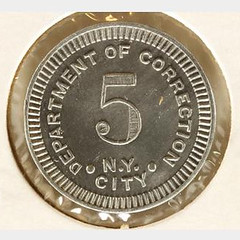 Brooklyn City Prison token reverse