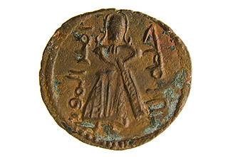 bronze fals of 'Abd al-Malik ibn Marwan