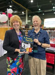 Barbara Gregory and Ken Bressett