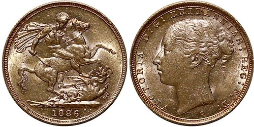 1886 Gold Sovereign
