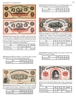 Tennessee Obsolete Paper Money sample page