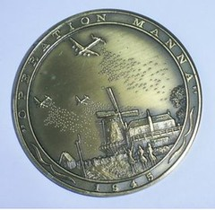 1985 Operation Manna commemorative medal obverse