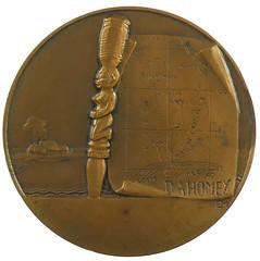 Monier Femme du Bornou Medal reverse