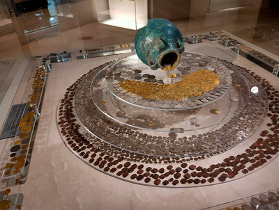 Cairo Museum of Islamic Art - Coin Hoard Display
