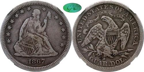 1867-S quarter