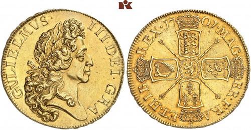 1701 William III 5 Guineas