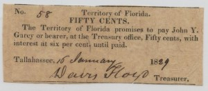 Territory of Florida 50 cent note