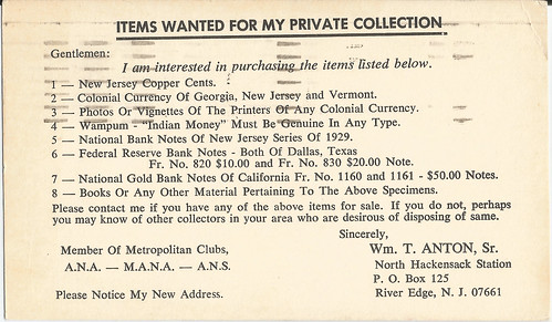 Postcard Bill Anton Wanted