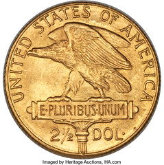 1915 Panama Pacific two and a half dollar gold coin reverse