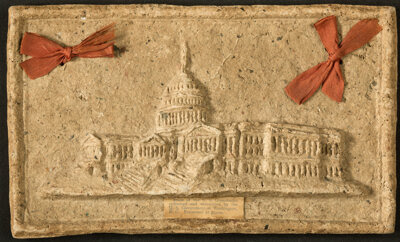 Macerated Currency Capitol Building Plaque