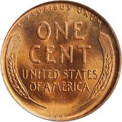 1909 Lincoln Cent VDB reverse
