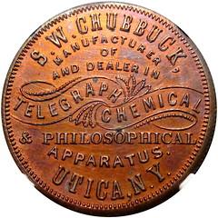 Chubbuck Telegraph Token obverse
