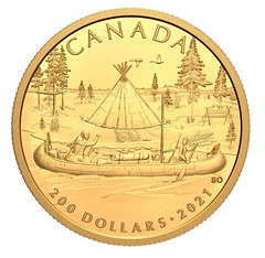 2021 Canada Early Canadian History 200 Dollar gold coin