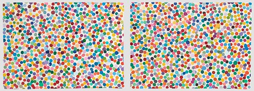 two Damien Hirst 'Currency' works