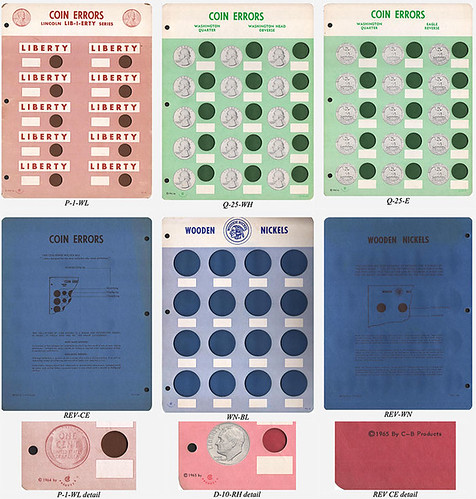 Error Coins and Wooden Nickel boards