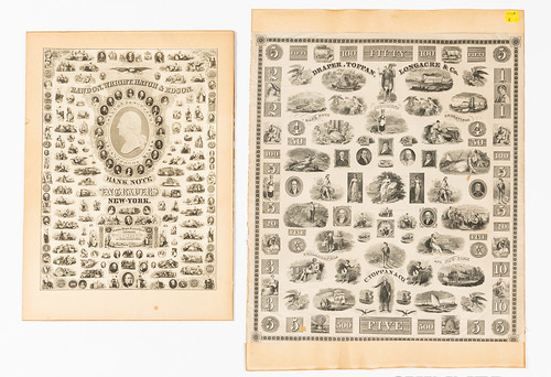Draper, Toppan, Longacre & Co. Banknote Specimen sheet