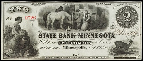 State Bank of Minnesota $2 note