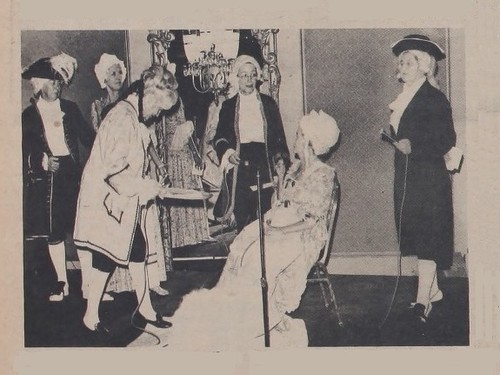 Mint Director Rittenhouse Presenting Half Dismes Reenactment