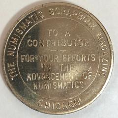 Numismatic Scrapbook contributor token reverse