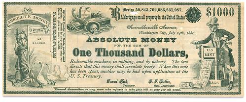 1880 Uncle Sam Satirical <q>Greenback</q> front