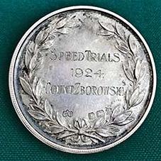 1924 Kent Automotive Club Speed Trials Medal reverse